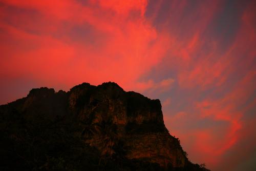 世界の絶景 クラビーの夕日